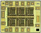 16-pin Semiconductor Die showing Bonding Pad locations