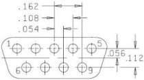 9-Pin Serial D-Connector pinout, DB9