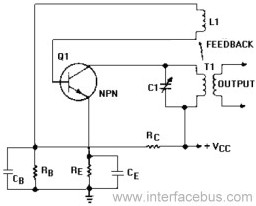 Series-Fed Armstrong Oscillator circuit schematic