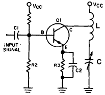 Series Tuned LC Transistor Amplifier Circuit