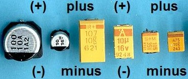 Polarized Capacitor Marking