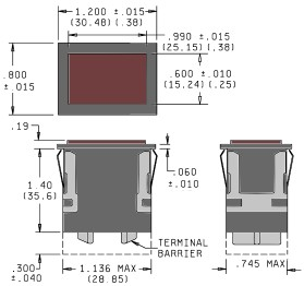 Snap-In Push Button Switch Dimensions