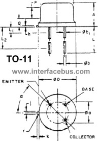 TO-11 Package Outline and Pin Location