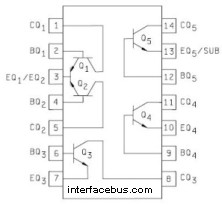 Transistor Array in a Dual In-line package