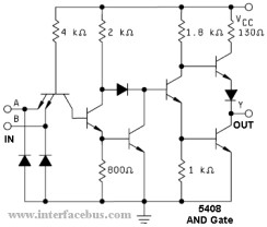 TTL logic 5408 AND gate schematic
