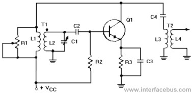 Tuned Circuit Armstrong Oscillator circuit schematic