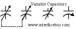 Variable Capacitor Symbols used on a schematic