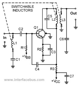 vhf television rf transistor amplifier circuit schematic