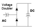 Two Diode Voltage Doubler Circuit Schematic