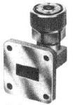 Coaxial Electrical connection to a waveguide